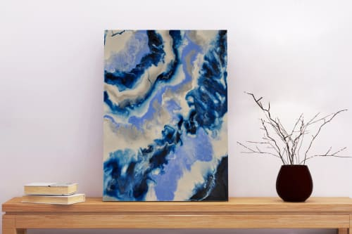 Paintings by Atelier Bloom seen at Private Residence, Motreal CA, Montreal - Blue Haze