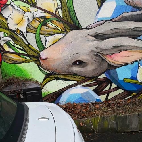 Murals by Jeroo seen at Hasenbergsteige, Stuttgart - Bunny
