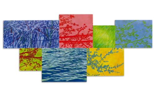 Paintings by Trine Bumiller seen at Woman's Hospital, Baton Rouge - Overflow and Undercurrent