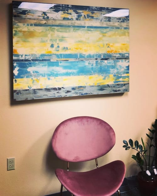 Paintings by Andrzej Michael Karwacki seen at Pet Emergency & Specialty Center of Marin, San Rafael - Abstract Painting