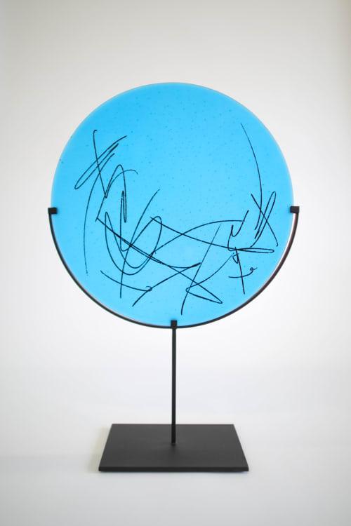 Sculptures by Jeff Goodman Studio seen at Creator's Studio, Toronto - Turquoise Scribe Disc
