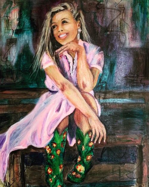 Paintings by Stillwell Fine Art seen at Carson City, Carson City - Buckaroo Barbie