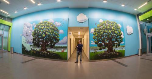 Murals by Matt Lively seen at Children's Hospital of Richmond at VCU Children's Pavilion, Richmond - Matt Lively