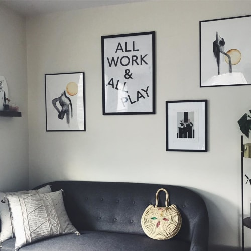 Paintings by by Favin seen at Private Residence, Somerville - How to Show Up for the Self