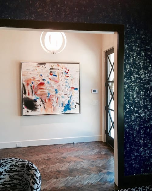 Paintings by Carol Hu seen at Private Residence, Dallas - Abstract Painting