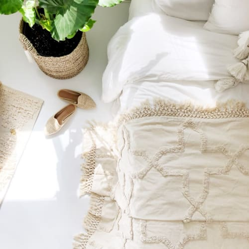 Linens & Bedding by Coastal Boho Studio seen at Destin, Destin - Sandy Bed Spread