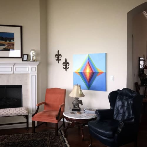 Paintings by Debbi Smith Rourke seen at Private Residence, Austin - Stargate