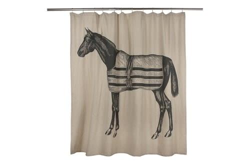 Curtains & Drapes by Thomas Paul seen at Sebastopol, Sebastopol - Equestrian Shower Curtain