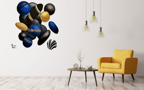 Murals by Perveen Kaur seen at Private Residence, London - Deco Cluster