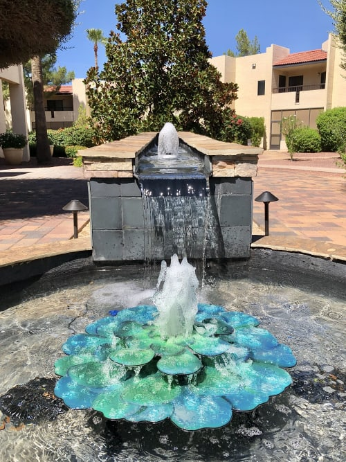 Public Sculptures by Emily M Randolph Fine Art seen at Private Residence, Scottsdale - Succulent Water Feature