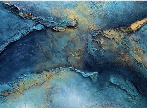 Paintings by Ginger Thomas Studios seen at Private Residence, Flowood - Living Waters - Acrylic Painting