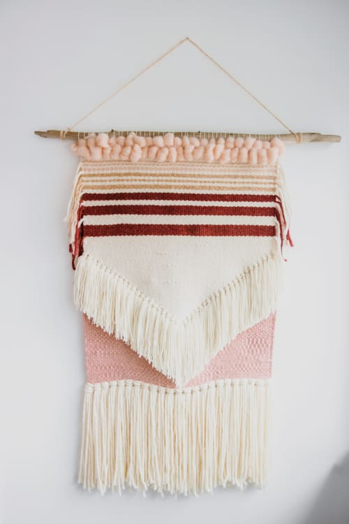 Valentines Day Weaving | Wall Hangings by The Northern Craft