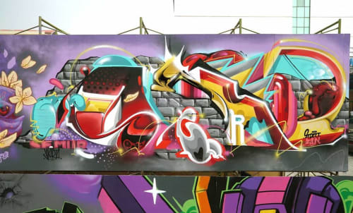 Street Murals by Semor the mad one seen at Senayan City - Street Dealin - Festival Jakarta Mural