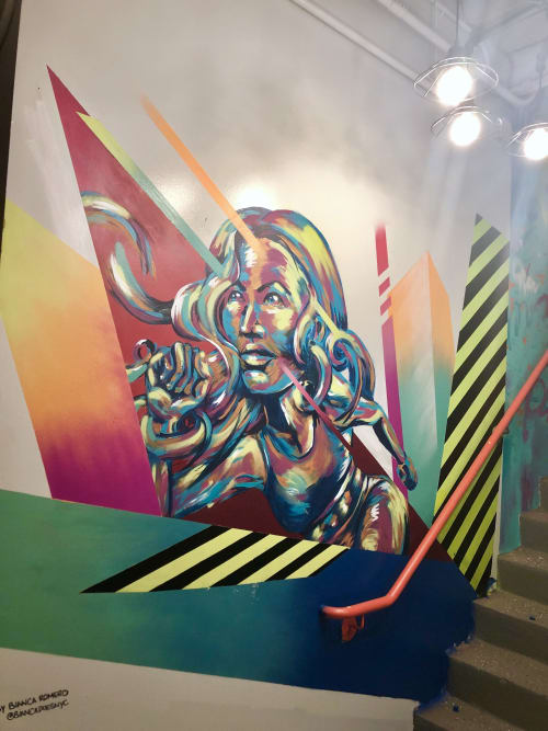 Murals by Bianca Romero seen at Ludlow Fitness, New York - Ludlow Fitness - NYC Fitness Club