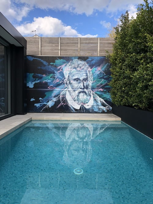 Murals by Blends seen at Private Residence, Drummoyne - Marco Polo