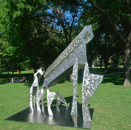 Sculptures by Perci Chester seen at Aerofab Inc, Blaine - Gyr Family Cycle
