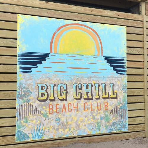 Murals by Paul Carpenter Art seen at Big Chill Beach Club, Bethany Beach - Mural
