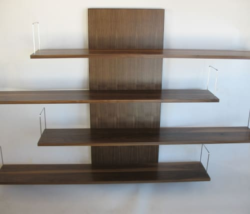 Furniture by Mark Righter - Cambium Studio seen at Private Residence, New York - Slippery Shelves - Walnut