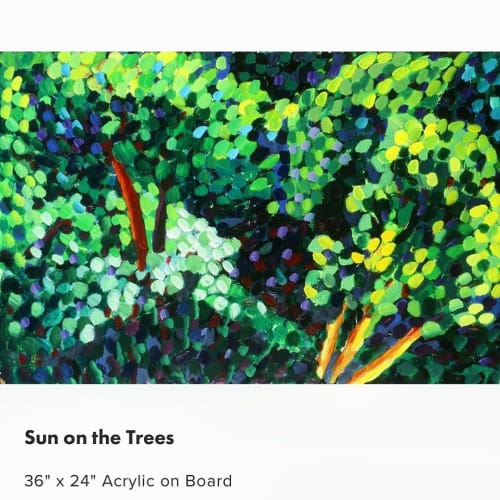 Paintings by Dale Weiss Art seen at Santa Monica, Santa Monica - Sun on the Trees