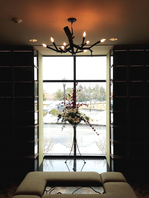 Chandeliers by CP Lighting at Green-Wood Cemetery Columbarium, Brooklyn - newGROWTH Chandelier