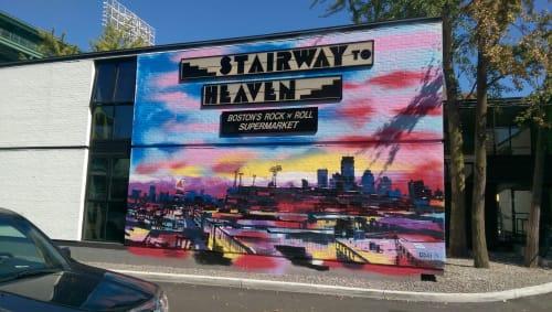 Street Murals by Adam O'Day Fine Art at The Verb Hotel, Boston - Verb Hotel Mural