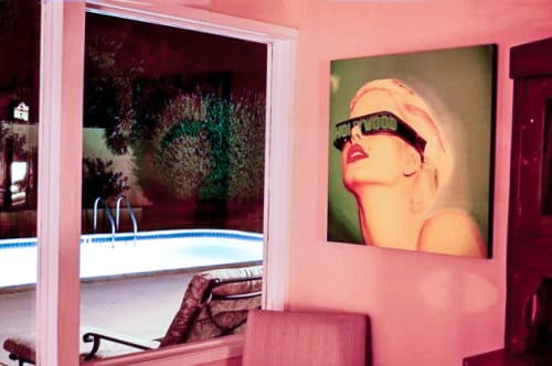 "Art & Wall Decor by Lisa Powers, Photographic Artist seen at Private Residence, Palm Springs, CA, Palm Springs - ""Hollywood Blonde"""