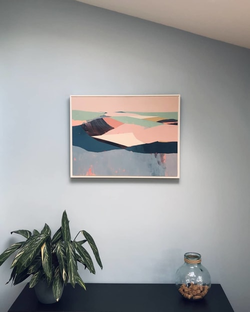 Paintings by Victoria Ball seen at Private Residence, London - Painting | Bratton Down