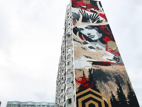 Street Murals by Filipp (FI2K) seen at Kutuzovskaya Ulitsa, 33, Odintsovo - MODERN TALES