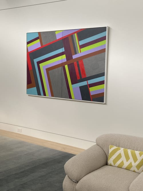 Paintings by Dale Weiss Art seen at Private Residence, Santa Monica - Angled Streets