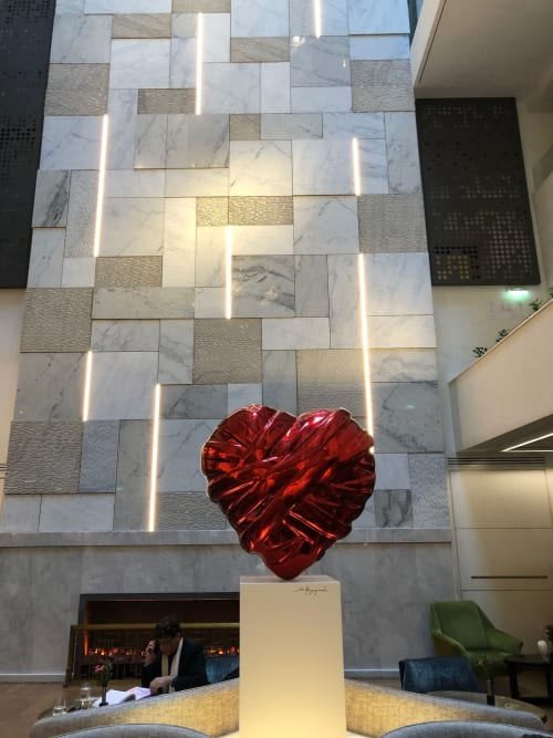 Sculptures by Stathis Alexopoulos seen at Electra Metropolis Hotel, Athina - Love Me