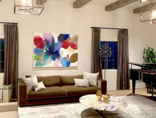 Paintings by Meredith Pardue seen at Private Residence, Los Angeles - Interstellar Orchida