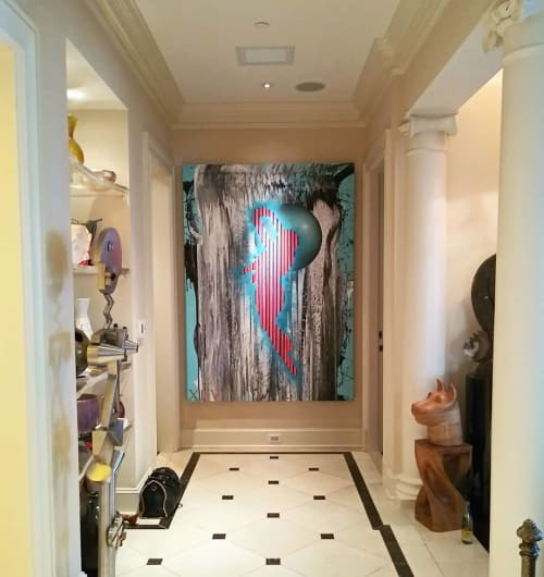 Paintings by Ricardo Paniagua seen at The Ritz-Carlton, Dallas, Dallas - Abstract Painting