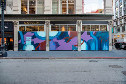 Murals by Nicole Mueller seen at 190 Post St, San Francisco - Coach Mural