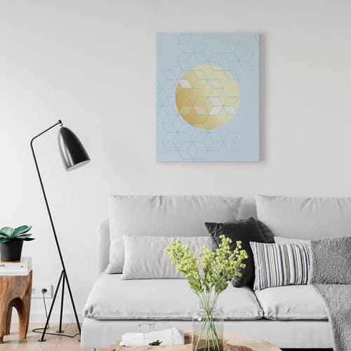 Wall Hangings by Michael Grace & Co seen at Private Residence, Seattle - Fly Away Canvas Art Print