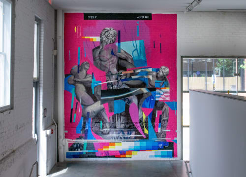 Murals by Taylor White seen at CAM Raleigh, Raleigh - Laocoön and the Algorithm