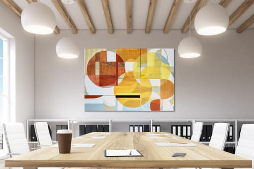 Paintings by TS ModernArt Studio seen at Private Residence - Manhattan Beach, Manhattan Beach - Sunny Day in LA