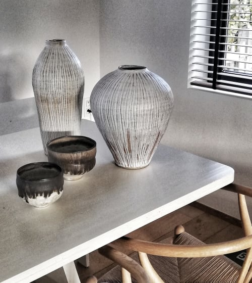 Tableware by nikisanceramics seen at Private Residence, Brussels - Ceramic vases