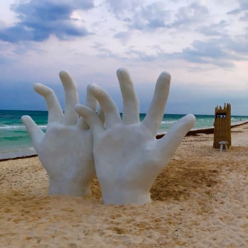 Public Sculptures by Amy Frueh seen at Playa Mambo - Cabanas in Tulum, Tulum - Bloom