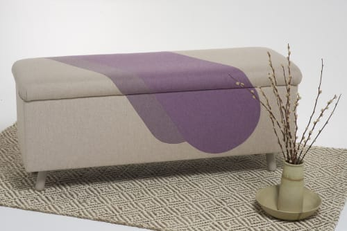 Benches & Ottomans by Sadie Dorchester seen at Private Residence, London - Tamara for Amelie - Upholstered Blanket Box