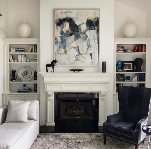 """Paintings by Marcia Reich seen at Private Residence, Chatham - """"You Before Me"""""""