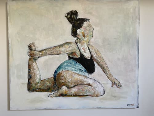 Paintings by Ofer Hod seen at Private Residence, Modi'in-Maccabim-Re'ut - A lot of yoga