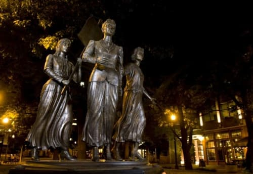 Public Sculptures by Alan LeQuire seen at Market Square, Knoxville - The Tennessee Women Suffrage Memorial