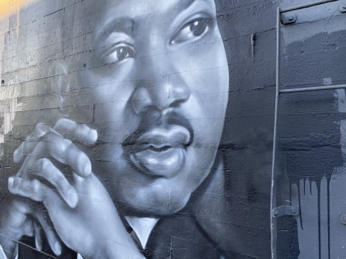 Murals by Shane Grammer Arts seen at Stahl Firepit LLC, Portland - Martin Luther King Jr.