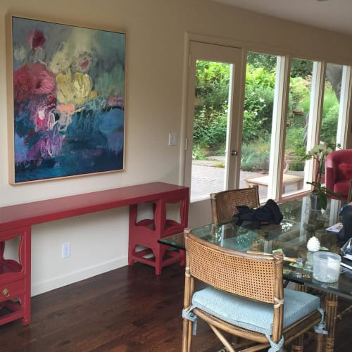 Paintings by Kate Zimmer Art seen at Private Residence, Belvedere - Bibby's Garden