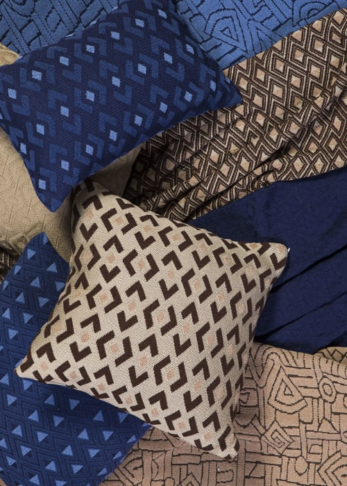 Pillows by Studio Twist seen at Private Residence, Brooklyn - Knitted Throws and Pillows in Polypropylene & Polyplush - Kuba