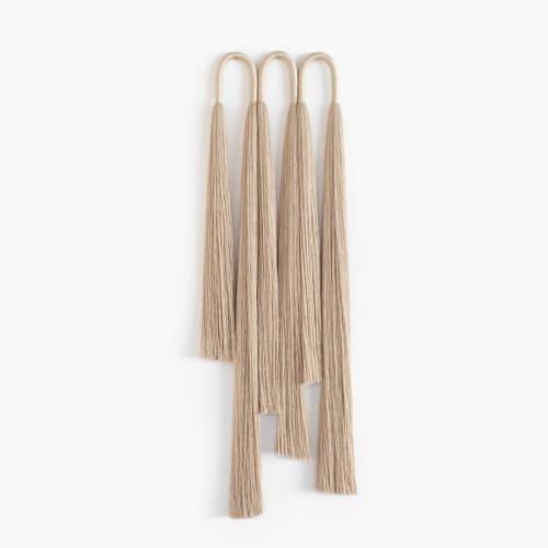 Sculptures by Cindy Hsu Zell - Triple Arch Tassel (Linen)