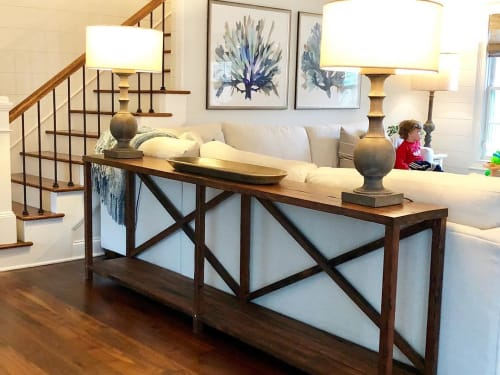 Tables by Roots Furniture LLC seen at Private Residence, Mount Pleasant - Sofa Table