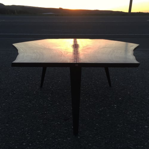 Tables by Kevin Manville Design seen at Lo-Fi Wines, Los Alamos - Down to the Wire