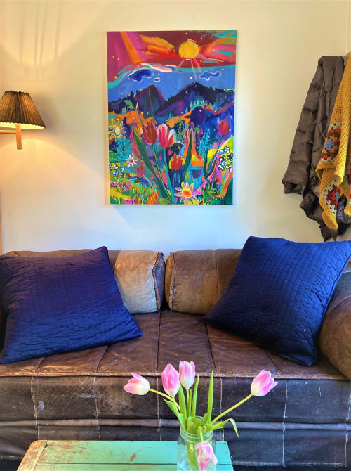Paintings by Destanne Norris seen at Private Residence, Falkland - Happiness and Hope