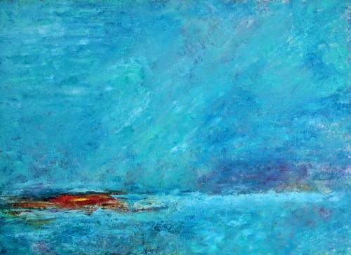 Aqua Dawn | Paintings by Marina May Raike